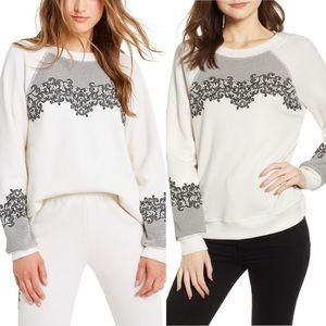 New Wildfox Chantilly Lace Sommers Sweatshirt